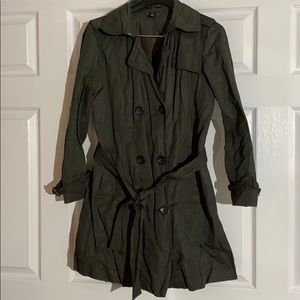 Gap Unlined Crinkle Trench Coat Nylon Jacket Sz M